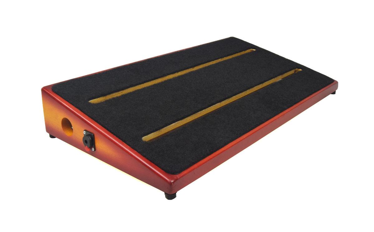ruach carnaby st handmade hardwood pedal board for guitar effects ebay. Black Bedroom Furniture Sets. Home Design Ideas