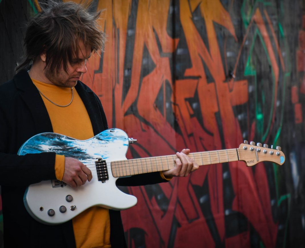 Rou Reynolds Enter Shikari Custom Ruach Revolt Electric Guitar 2