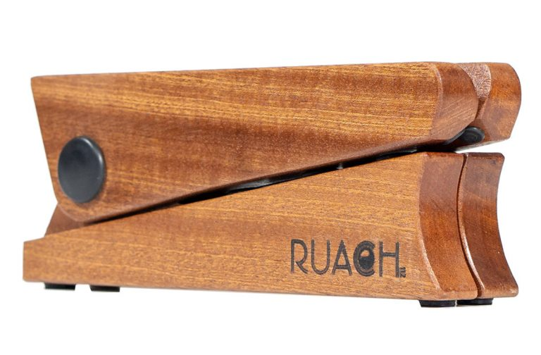 mahogany mini guitar stand