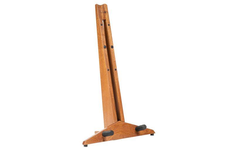 mahogany wooden guitar stand
