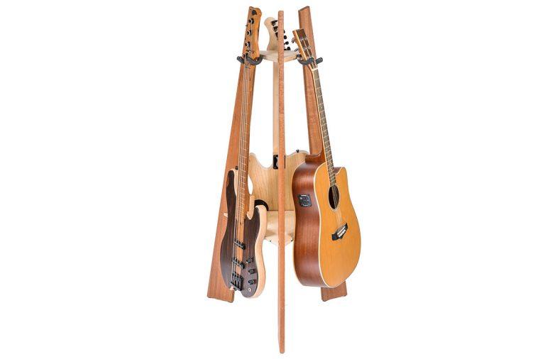 handmade hardwood guitar stand