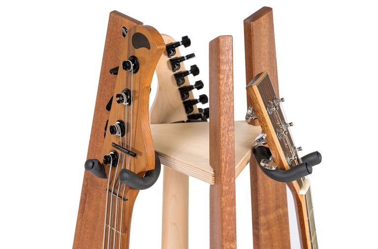 three way guitar stand